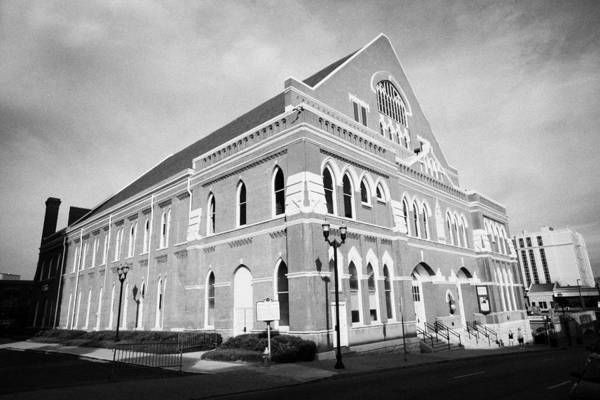 Ryman Print featuring the photograph The Ryman Auditorium Former Home Of The Grand Ole Opry And Gospel Union Tabernacle Nashville by Joe Fox