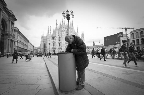 the sad milan poverty art print by eugenio marongiu