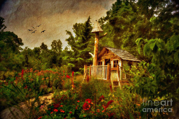 Playhouse Art Print featuring the digital art The Shire by Lois Bryan