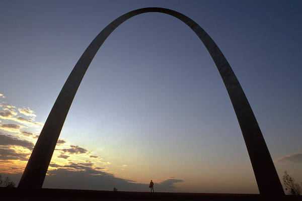 Landmark Art Print featuring the photograph The St. Louis Arch by Carl Purcell