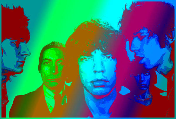 The Rolling Stones Art Print featuring the digital art The Stones by Martin James