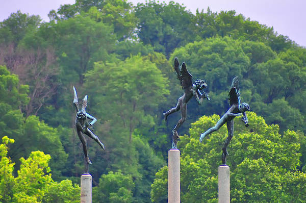 Angels Art Print featuring the photograph The Three Angels by Bill Cannon