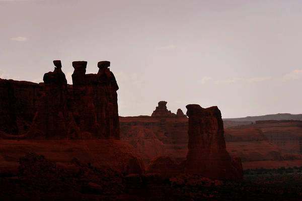 Landscape Art Print featuring the photograph The Three Gossips Arches National Park Utah by Christine Till