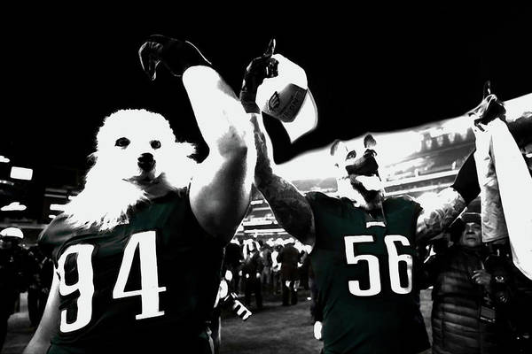 Beau Allen Art Print featuring the mixed media The Under Dogs Philadelphia Eagles by Brian Reaves