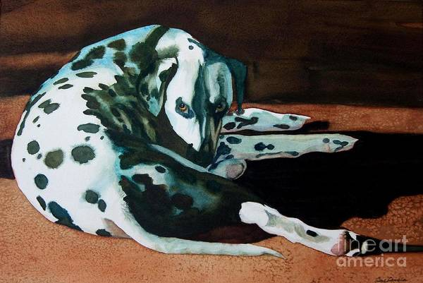 Animal Art Print featuring the painting The Watcher by Gail Zavala