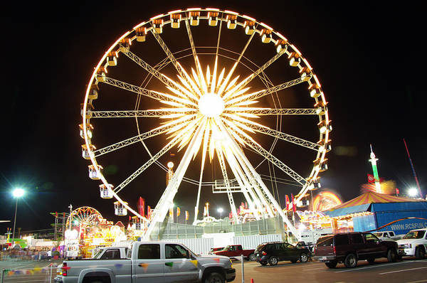 State Fair Art Print featuring the photograph The Wheel by Kenneth Hess