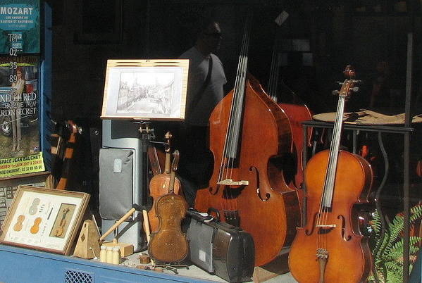 Violin Art Print featuring the photograph The Window In Mittenwald by Mary Ellen Mueller Legault