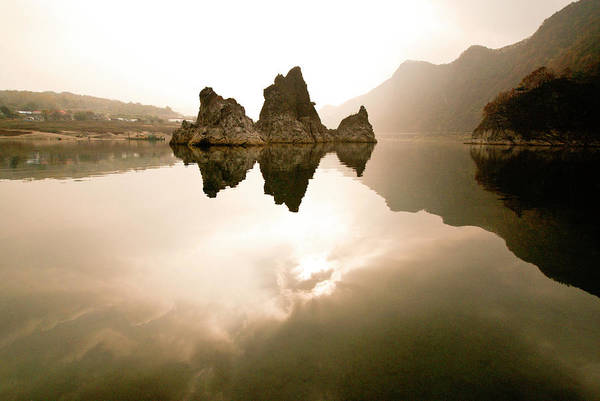 Asia Art Print featuring the photograph Three Peaks by Michele Burgess