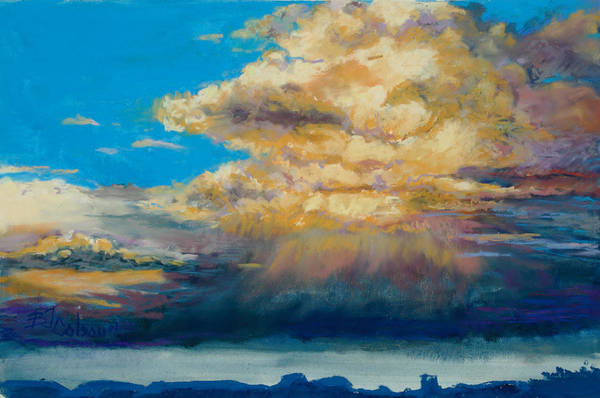 Storm Clouds Art Print featuring the painting Thundeclouds by Billie Colson