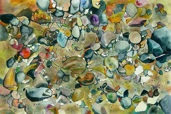 Watercolor Art Print featuring the painting Tide Pool by Karen Merry