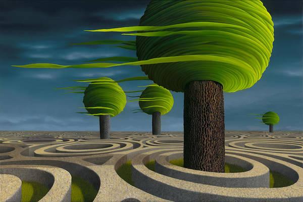 Tree Art Print featuring the painting Tilia Arbora by Patricia Van Lubeck