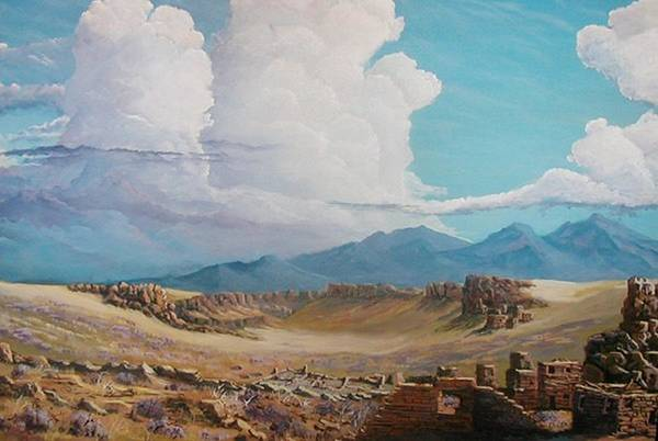 Landscape Art Print featuring the painting Time Stands Still by John Wise