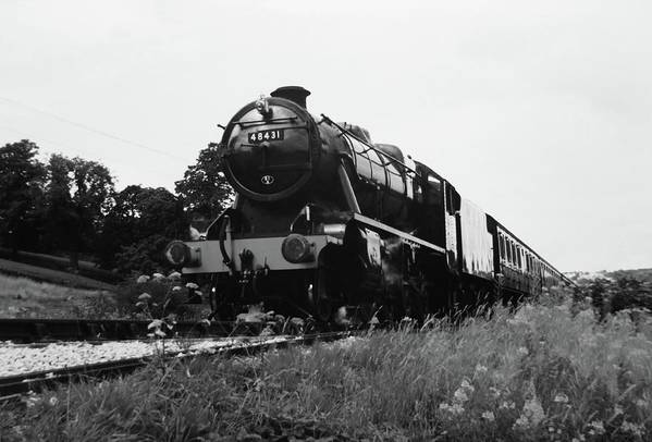 Steam Art Print featuring the photograph Time Travel By Steam B/w by Martin Howard