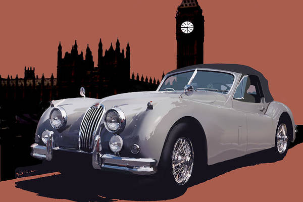 Jaguar Art Print featuring the digital art Timeless by Richard Herron