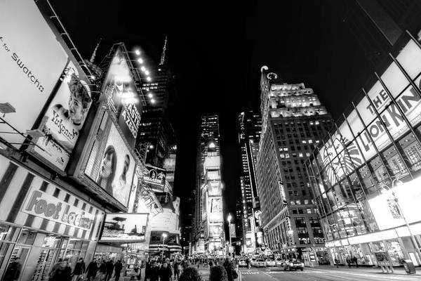 Times Square Art Print featuring the photograph Times Square Don't Shine As Bright As You by Ariane Moshayedi