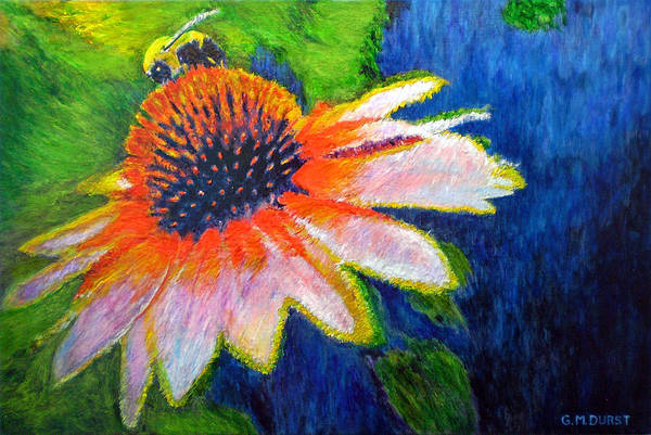 Bee Art Print featuring the painting To Bee by Michael Durst