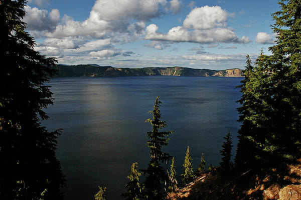 Peaceful Print featuring the photograph Top Wow Spot - Crater Lake In Crater Lake National Park Oregon by Christine Till