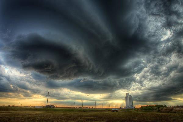 Storm Art Print featuring the photograph Toulon Turmoil by Thomas Zimmerman