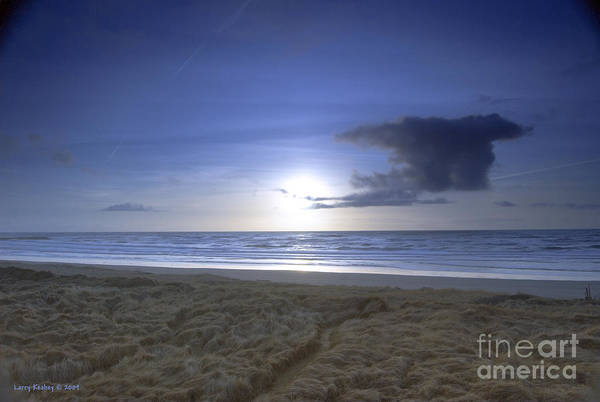 Ocean Art Print featuring the photograph Trails End by Larry Keahey