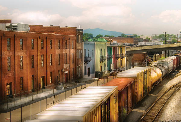 Savad Art Print featuring the photograph Train - Yard - Train Town by Mike Savad