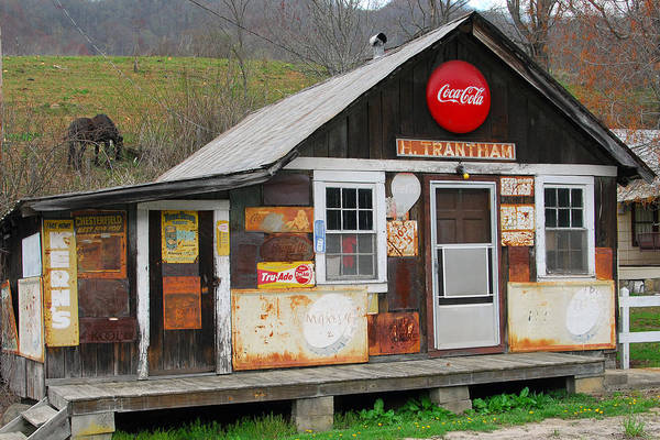 Old County Store Art Print featuring the photograph Trantham Store by Alan Lenk