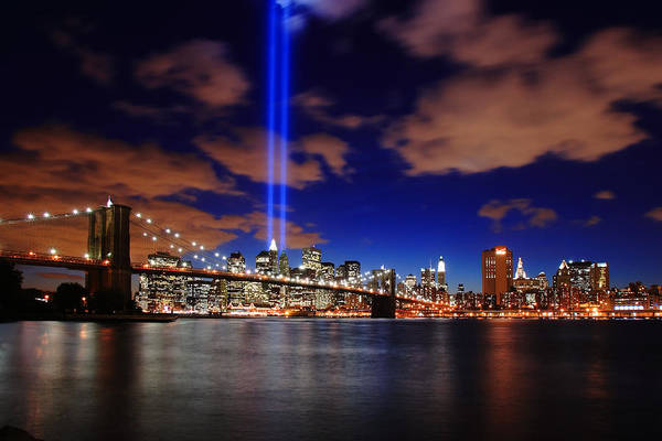 New York City Art Print featuring the photograph Tribute In Light by Rick Berk