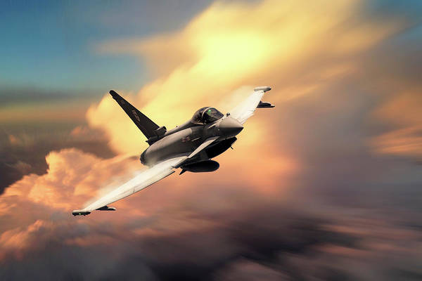 Typhoon 29 Squadron Art Print featuring the digital art Triple X by J Biggadike