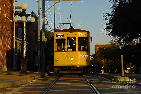 Trolley Art Print featuring the photograph Trolley Ride by David Lee Thompson