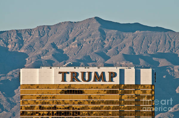 Las Vegas Art Print featuring the photograph Trump Tower Nevada by Andy Smy