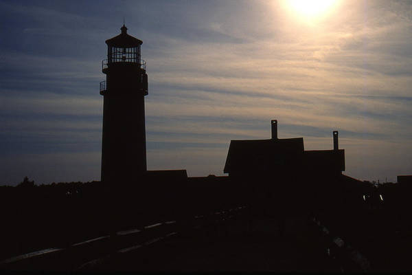 Ocean Art Print featuring the photograph Truro Lighthouse In Silhouette by Roger Soule