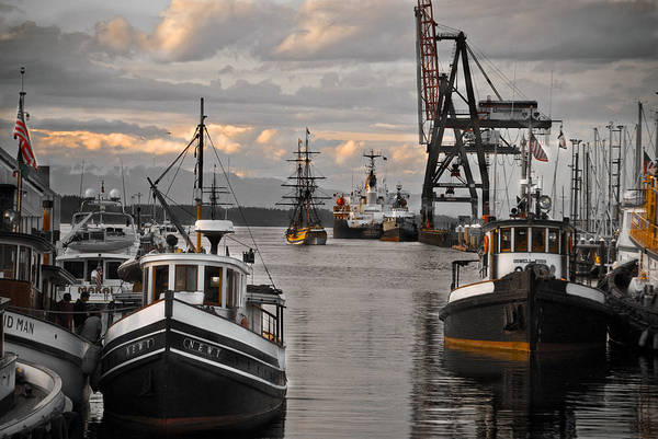 Tugs Art Print featuring the photograph Tugs And Lady Washington by Craig Perry-Ollila