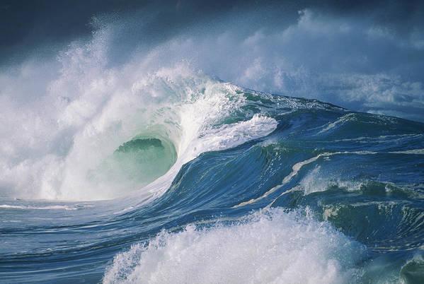Beautiful Art Print featuring the photograph Turbulent Shorebreak by Vince Cavataio - Printscapes