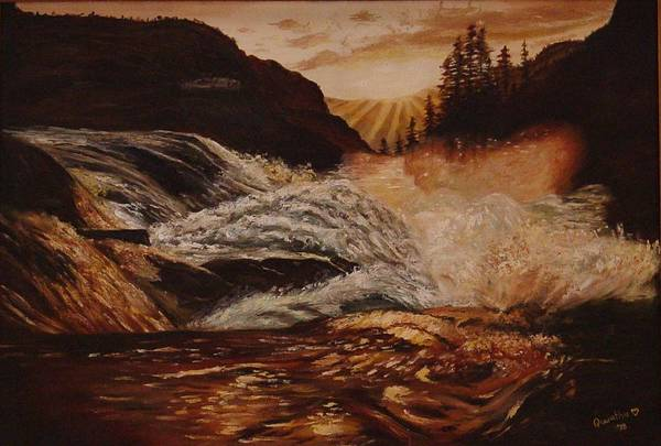 Water Art Print featuring the painting Turbulent Waters by Quwatha Valentine
