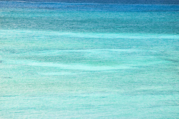 Nobody Art Print featuring the photograph Turquoise Blue Carribean Water by James Forte