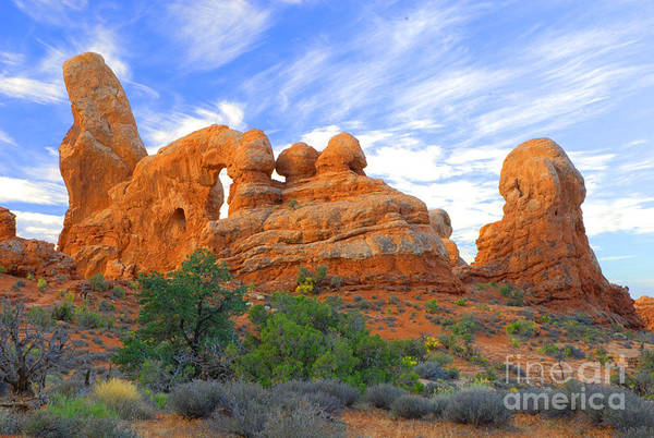 Arches Art Print featuring the photograph Turret Arch by Dennis Hammer
