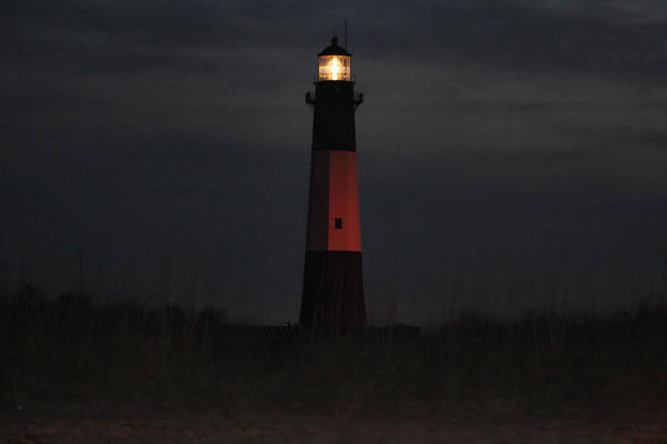 Photography Art Print featuring the photograph Tybee Island Lighthouse In The Evening by Johann Todesengel