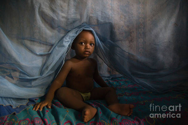 Llin Art Print featuring the photograph Under The Mosquito Net by Irene Abdou