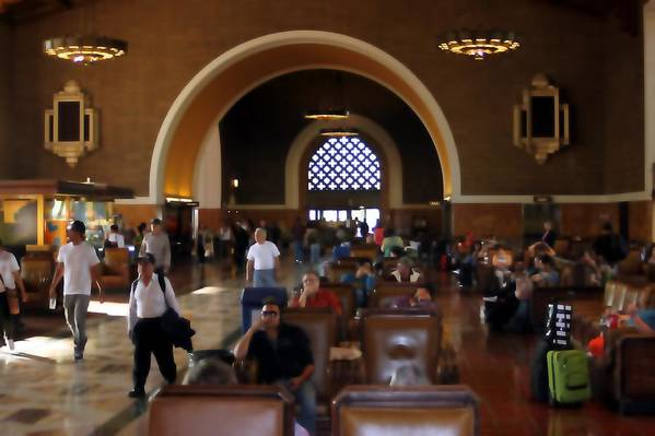 Train Art Print featuring the photograph Union Station 0604 by Edward Ruth