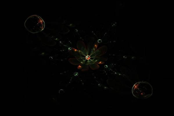 Fractal Art Print featuring the digital art Universal Flowers by Elena Ivanova IvEA