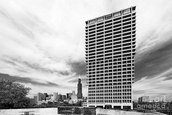 Chicago Art Print featuring the photograph University Of Illinois At Chicago University Hall by University Icons