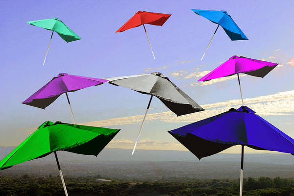 Umbrellas Art Print featuring the photograph Up Up And Away by Lynn Andrews