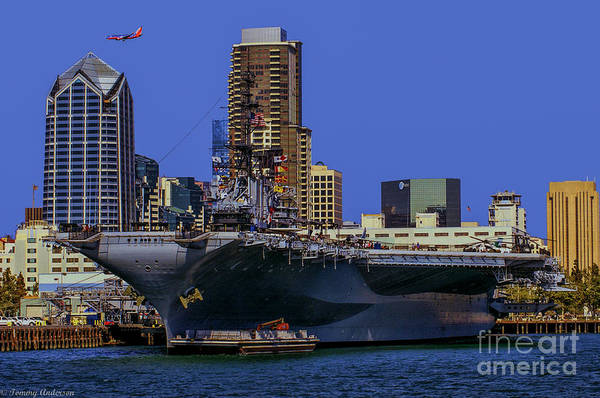 Uss Midway Art Print featuring the photograph Uss Midway San Diego Ca by Tommy Anderson