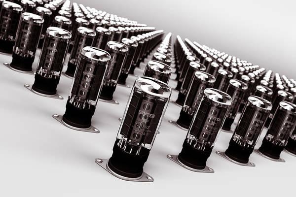 Vacuum Tube Art Print featuring the digital art Vacuum Tubes by Edward Myers