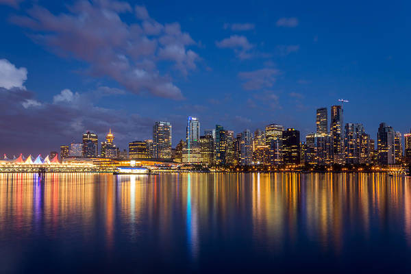 Vancouver Art Print featuring the photograph Vancouver City Twilight by Pierre Leclerc Photography