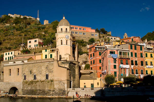 Italy Art Print featuring the photograph Vernazza by Carl Jackson