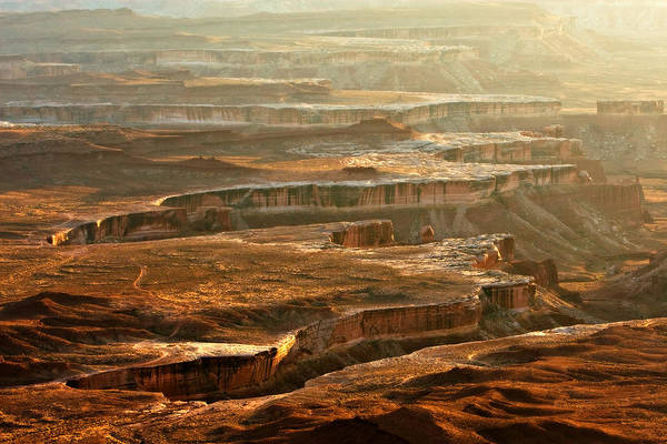 Landscape Art Print featuring the photograph View Of Canyonlands by Carl Jackson