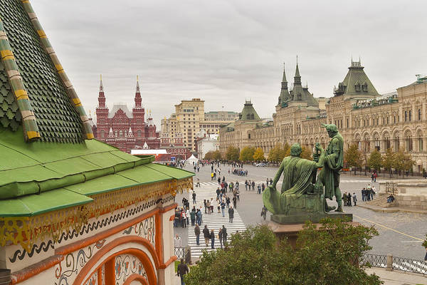 Red Art Print featuring the photograph View Of Red Square In Moscow by Aleksandr Volkov