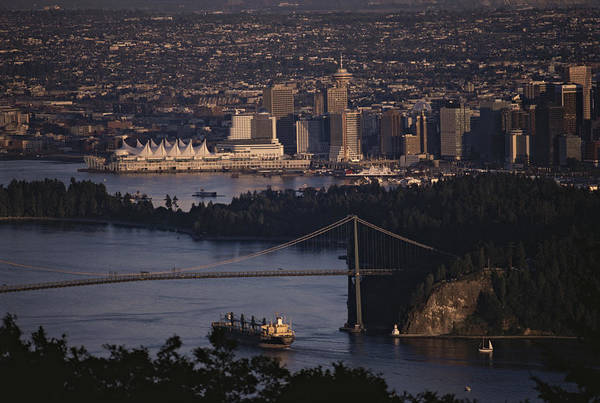 North America Print featuring the photograph View Of Vancouver, British Columbia by Annie Griffiths