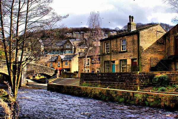 Hebden Art Print featuring the photograph Village On The River by Jacqui Kilcoyne