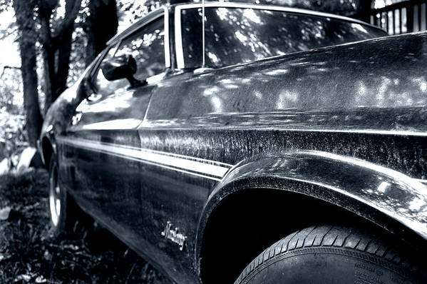 Vintage Car Art Print featuring the photograph Vintage Mustang by Heather S Huston